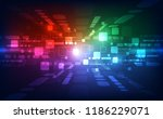 vector abstract futuristic high ... | Shutterstock .eps vector #1186229071