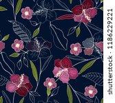 trendy seamless flower pattern. ... | Shutterstock .eps vector #1186229221