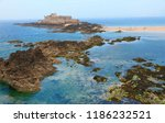 fort on the beautiful island of ...   Shutterstock . vector #1186232521