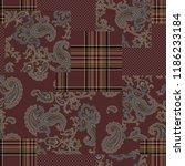 paisley patchwork pattern    | Shutterstock .eps vector #1186233184