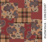 paisley patchwork pattern   | Shutterstock .eps vector #1186233187