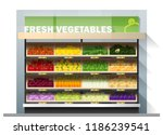 fresh vegetables for sale... | Shutterstock .eps vector #1186239541