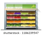 fresh fruits for sale display... | Shutterstock .eps vector #1186239547