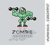zombie athlete   cartoon...   Shutterstock .eps vector #1186245937