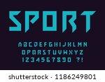 modern sport font geometric... | Shutterstock .eps vector #1186249801