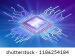 illustration of microprocessor  ... | Shutterstock .eps vector #1186254184