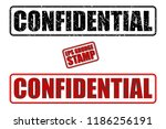 confidential red and black text ... | Shutterstock .eps vector #1186256191