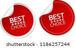 best choice stickers | Shutterstock .eps vector #1186257244