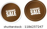 clearance sale stickers | Shutterstock .eps vector #1186257247
