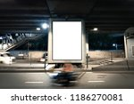 blank poster display... | Shutterstock . vector #1186270081