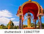 Lord Shiva statue in Buddhist temple, Koh Samui - Thailand - stock photo