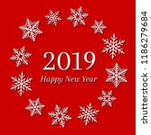 2019 and happy new year concept ... | Shutterstock .eps vector #1186279684
