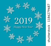 2019 and happy new year concept ... | Shutterstock .eps vector #1186279687