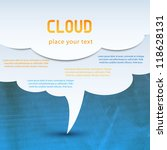cloud computing concept. vector | Shutterstock .eps vector #118628131