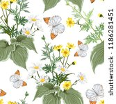 beautiful pattern with many... | Shutterstock .eps vector #1186281451