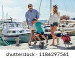 happy family having fun ...   Shutterstock . vector #1186297561