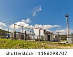 natural gas pumping station in... | Shutterstock . vector #1186298707