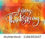 vector greeting thanksgiving... | Shutterstock .eps vector #1186302637