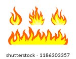 fire. flame of fire bonfire. a... | Shutterstock .eps vector #1186303357
