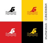 swimming water sport sign.... | Shutterstock .eps vector #1186306864