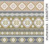 indian rug tribal ornament... | Shutterstock .eps vector #1186307194