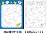 preschool worksheet for...   Shutterstock .eps vector #1186311481