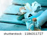 spa concept background with... | Shutterstock . vector #1186311727