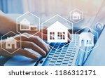 buy house  real estate concept  ... | Shutterstock . vector #1186312171