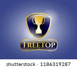 gold badge or emblem with... | Shutterstock .eps vector #1186319287
