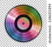 gramophone iridescent vinyl lp...   Shutterstock .eps vector #1186321894