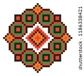 colored embroidery border.... | Shutterstock .eps vector #1186338421