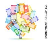 abstract color speech cloud of... | Shutterstock .eps vector #118634161