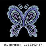 butterfly embroidery pattern....   Shutterstock .eps vector #1186343467