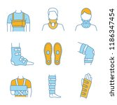 trauma treatment color icons... | Shutterstock .eps vector #1186347454