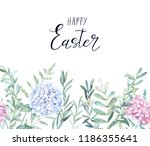 meadow watercolor template.... | Shutterstock . vector #1186355641