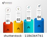 infographic design template.... | Shutterstock .eps vector #1186364761