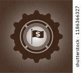 flag with money symbol inside... | Shutterstock .eps vector #1186366327