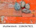 peeled and faded plank wooden...   Shutterstock . vector #1186367821