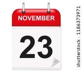 daily single leaf calendar  red ... | Shutterstock .eps vector #1186373971