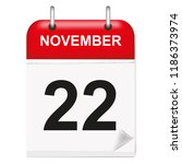 daily single leaf calendar  red ... | Shutterstock .eps vector #1186373974