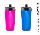 plastic shaker on white... | Shutterstock .eps vector #1186377697