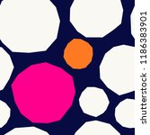 seamless repeating pattern with ... | Shutterstock .eps vector #1186383901