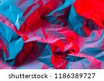 crushed paper background in... | Shutterstock . vector #1186389727
