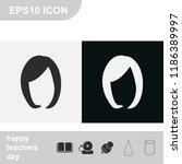bob cut hair silhouette. woman... | Shutterstock .eps vector #1186389997