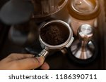 coffee and coffee in the morning | Shutterstock . vector #1186390711