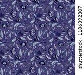 bohemian retro floral all over...   Shutterstock .eps vector #1186392307