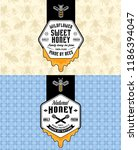 honey labels  logo and... | Shutterstock .eps vector #1186394047