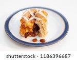 freshly baked chelsea bun on a...   Shutterstock . vector #1186396687