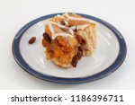 freshly baked chelsea bun on a...   Shutterstock . vector #1186396711