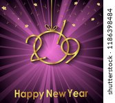 2019 happy new year background...   Shutterstock .eps vector #1186398484
